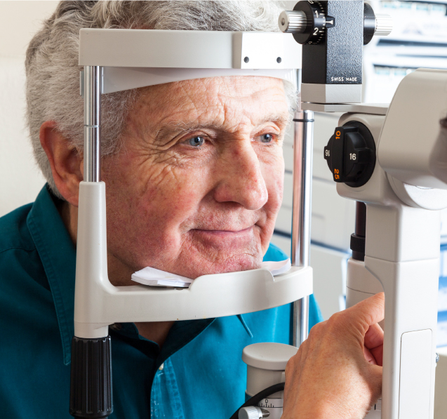 Man Receiving Eye Examination